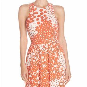 Trina Turk- Lenia Print Pique Fit & Flare Dress